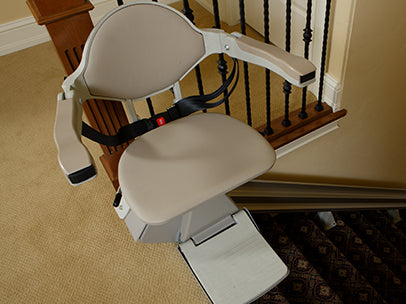 Stairlift Bruno Elan SRE-3000 Stairlift with Power Swivel Seat ...