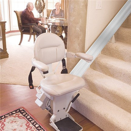 Refurbished Bruno SRE-2010 Indoor Elite Stairlift Heavy Duty 400lbs Capacity - Footit Medical, CPAP, Stairlift, Orthotic, Prosthetic, & Mobility Supply