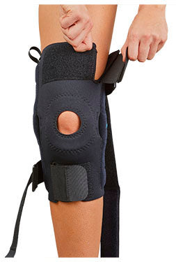 AKS (TM) Knee Support with Metal Hinges & Straps - CoolFlex - Footit Medical, CPAP, Stairlift, Orthotic, Prosthetic, & Mobility Supply