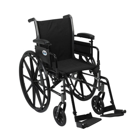 Hybrid 2 in 1 Transport & Lightweight Wheelchair All in one with 1 Year Warranty! - Footit Medical, CPAP, Stairlift, Orthotic, Prosthetic, & Mobility Supply