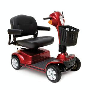 Pride Maxima 4 Wheel Scooter SC940 Heavy Duty Red - Footit Medical, CPAP, Stairlift, Orthotic, Prosthetic, & Mobility Supply