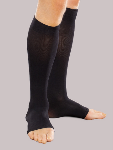 Ease Opaque Open Toe Knee Highs Men/Women