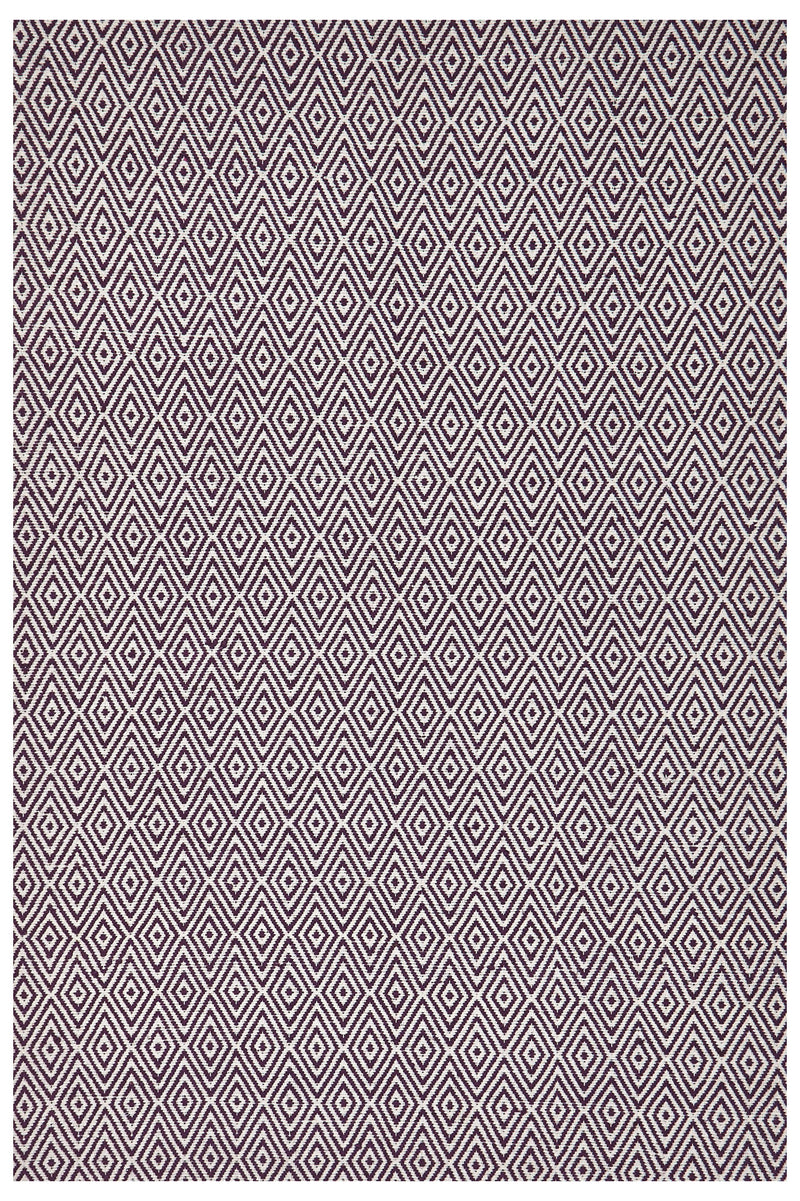 Modern Flatweave Diamond Design Purple Rug