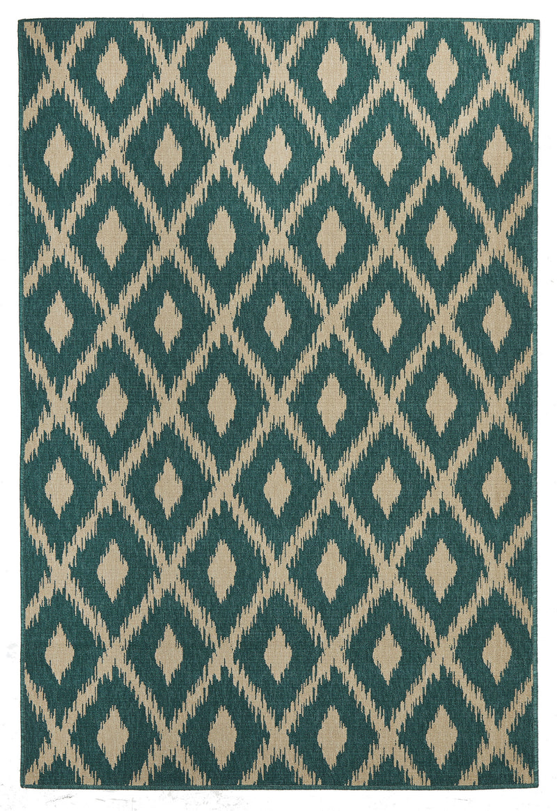 Avoca Trible Turquoise Outdoor Rug - MaddieBelle