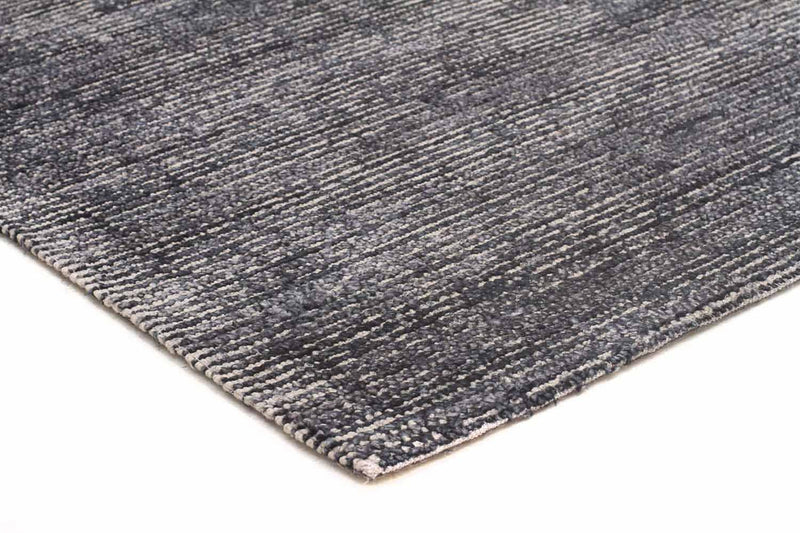 Black Cotton Rayon Rug - MaddieBelle