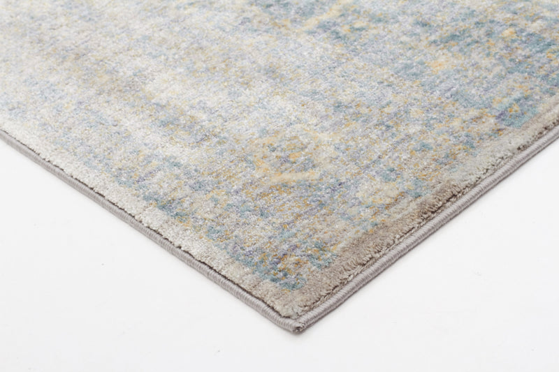 Silver and Blue Mist Traditional Rug - MaddieBelle
