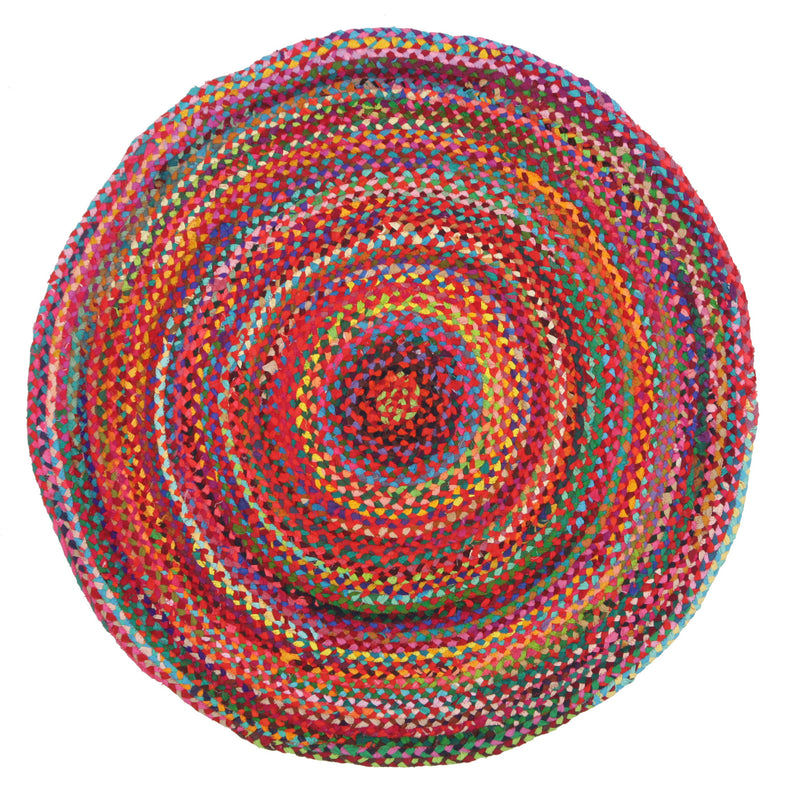 Chandra Braided Flatweave Cotton Round Rug - MaddieBelle