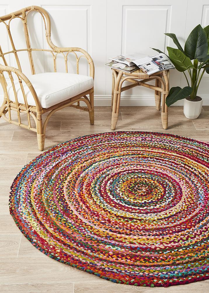 Atrium Chandra Braided Cotton Rug Multi - MaddieBelle