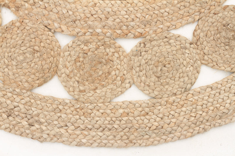 Round Jute Bleached Rug