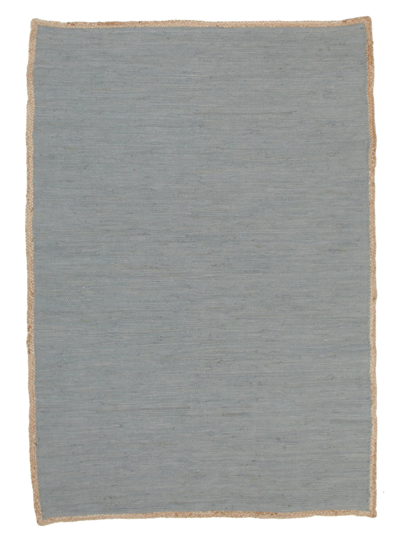 Reno Cotton and Jute Rug Blue - MaddieBelle