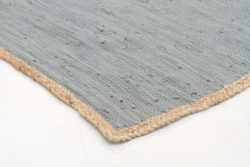 Reno Cotton and Jute Rug Blue