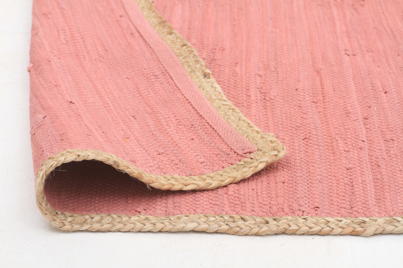 Reno Cotton and Jute Rug Pink - MaddieBelle