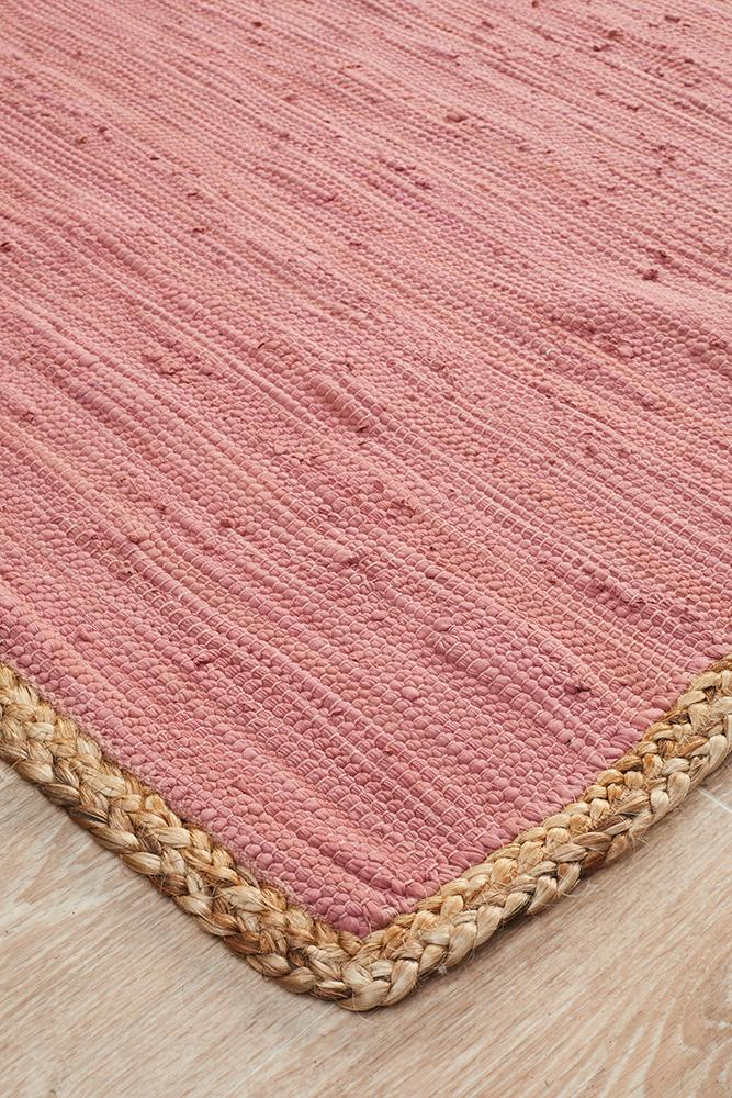 Atrium Reno Cotton and Jute Rug Pink - MaddieBelle