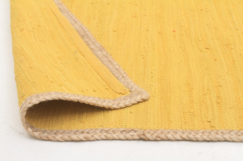 Reno Cotton and Jute Rug Yellow - MaddieBelle