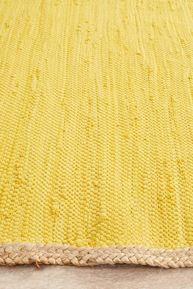 Atrium Reno Cotton and Jute Rug Yellow - MaddieBelle