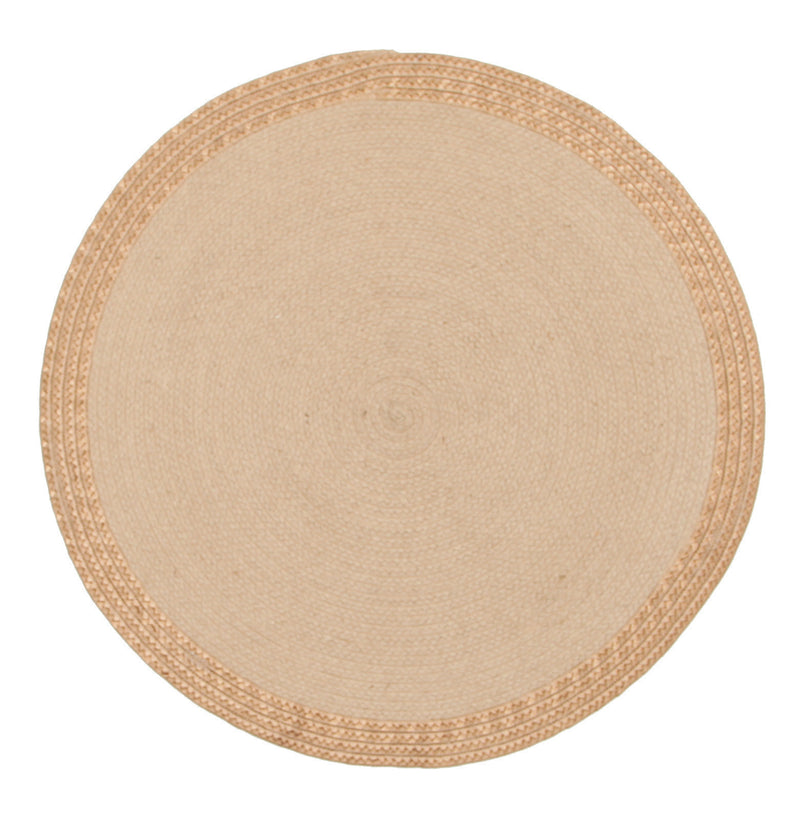 Milano Hand Braided Jute and Copper Leather Rug - MaddieBelle