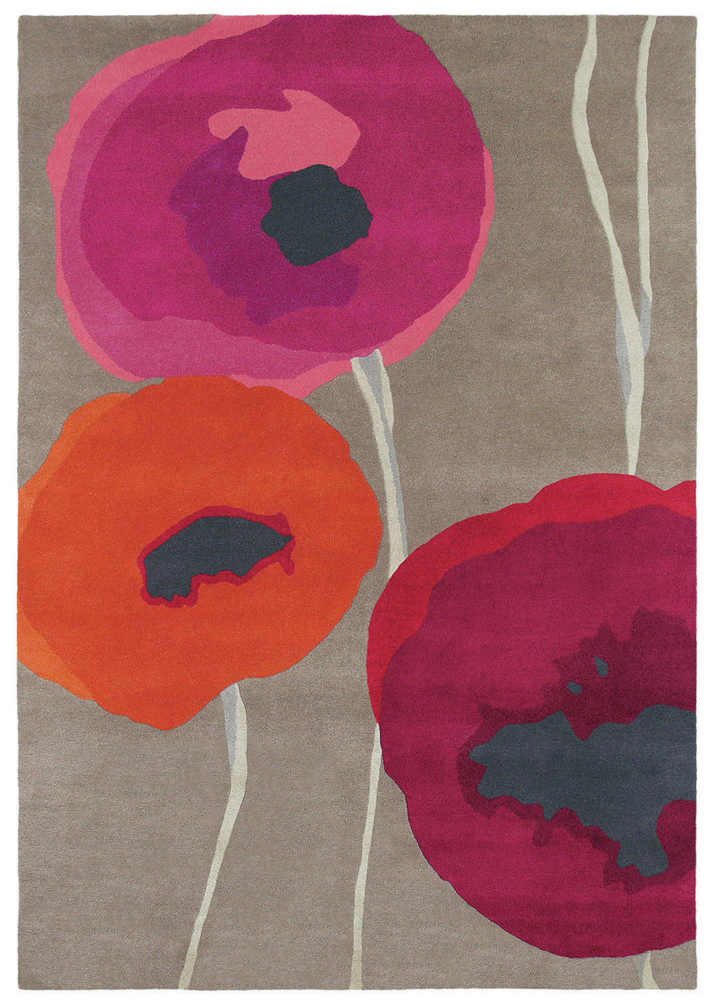 SANDERSON POPPIES RED ORAN - MaddieBelle