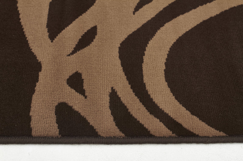 Scribble Modern Rug Brown - MaddieBelle