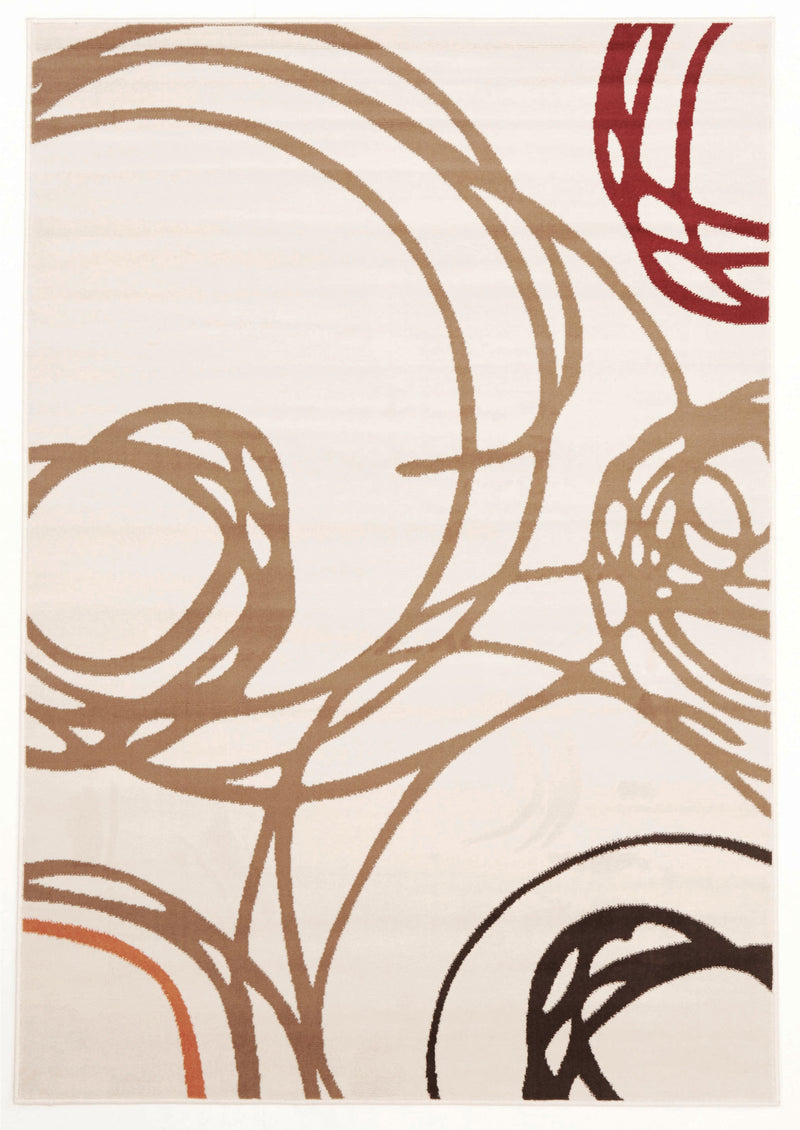 Scribble Modern Rug Ivory - MaddieBelle