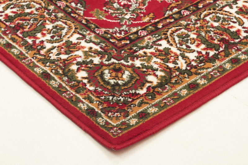 Traditional All Over Pattern Rug Red