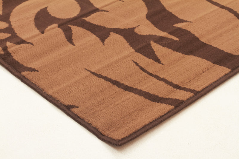 Dark Brown And Light Brown Pattern Rug - MaddieBelle