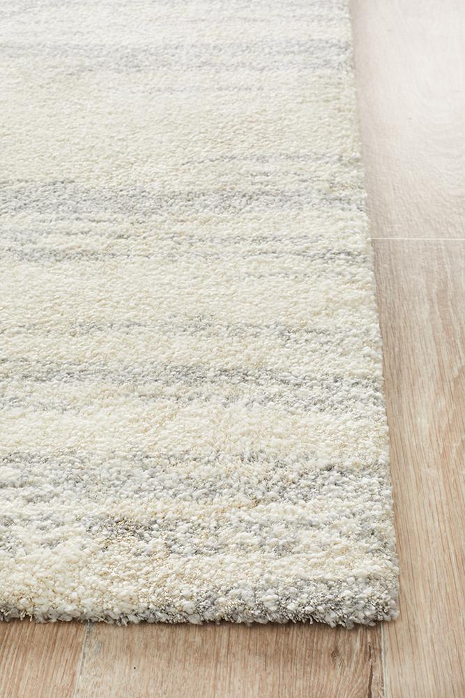 Broadway Evelyn Contemporary Silver Rug - MaddieBelle