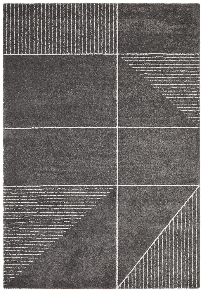 Broadway Florence Modern Charcoal Rug - MaddieBelle