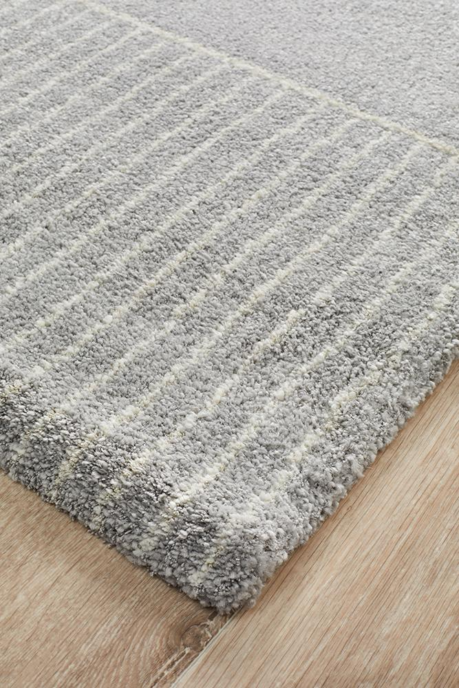 Broadway Florence Modern Silver Rug - MaddieBelle