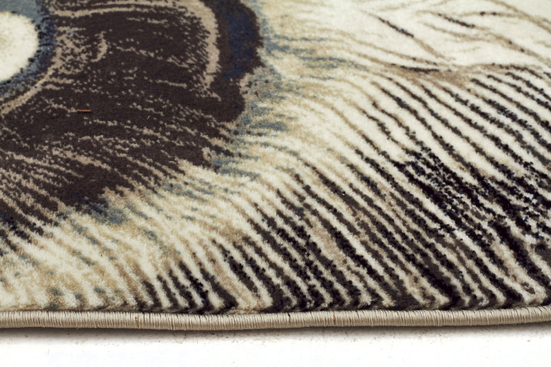 Whimsical Feathers Bone Rug - MaddieBelle