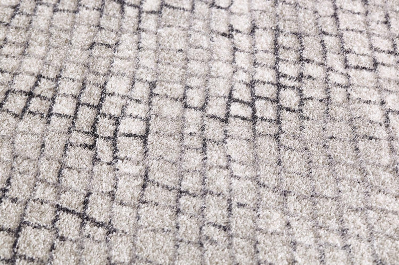 Lily Modern Brick Natural and Silver Charcoal Rug - MaddieBelle