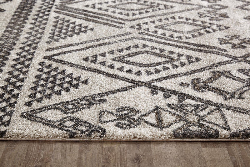 Lara Tribal Natural and Grey Rug - MaddieBelle