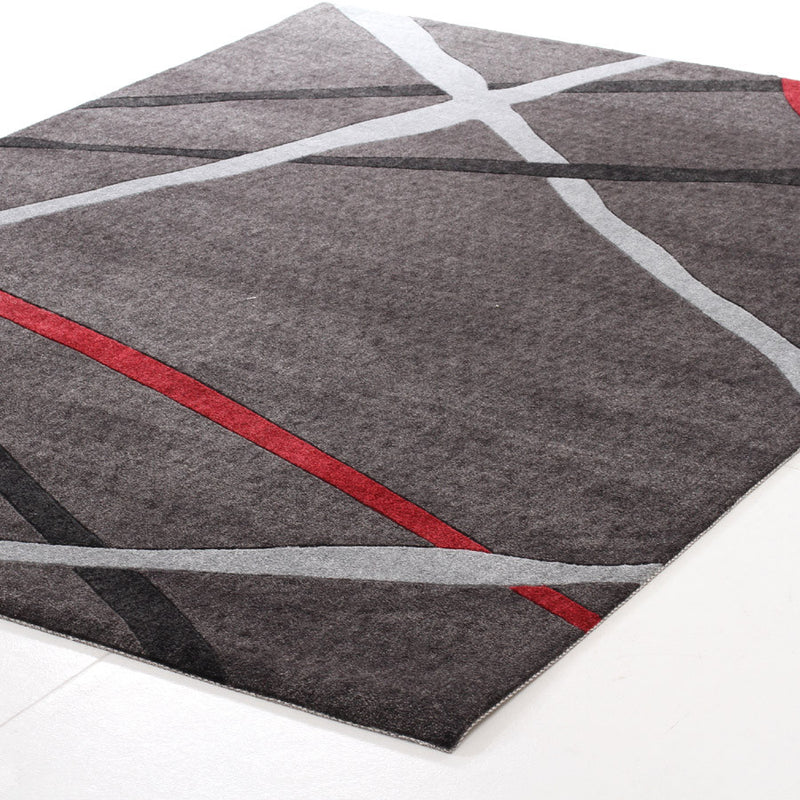Abstract Lines Rug Charcoal