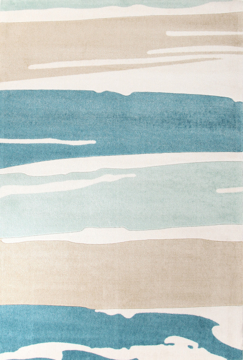 Brush Strokes Rug Blue - MaddieBelle