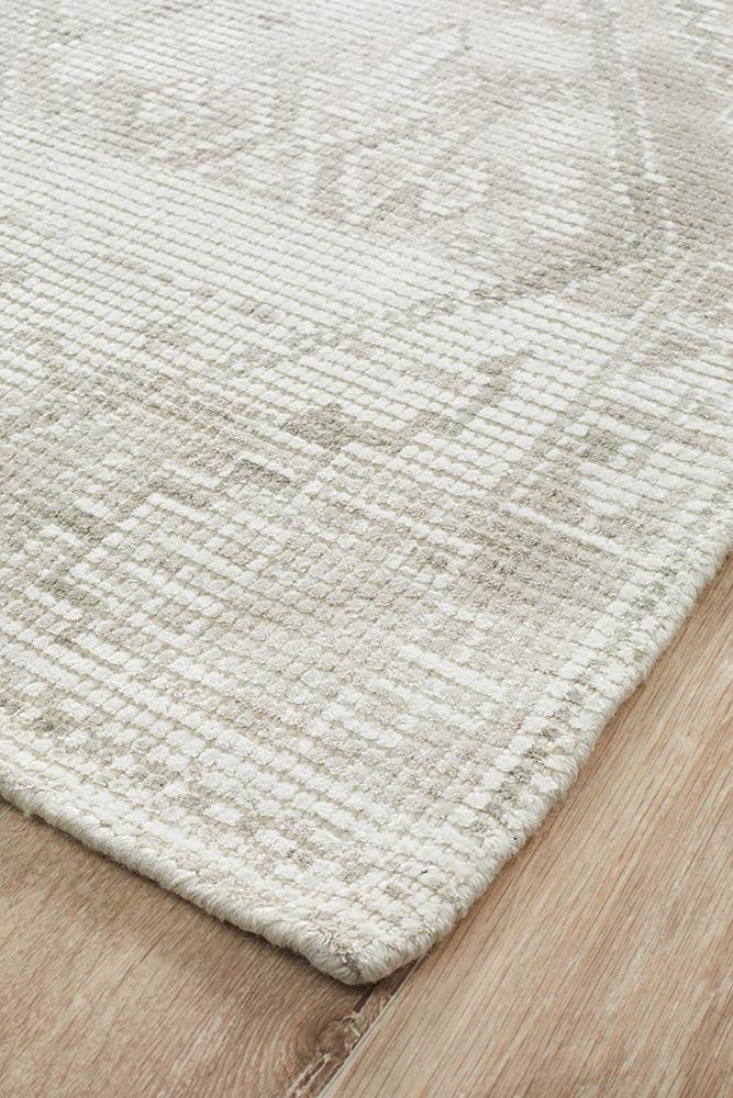 Castle Ariana Diamond Natural Silver Rug - MaddieBelle
