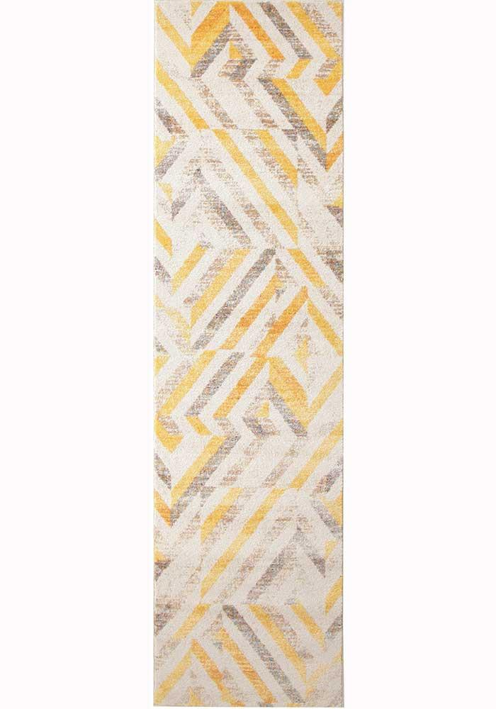 Divinity Slant Yellow Modern Rug - MaddieBelle