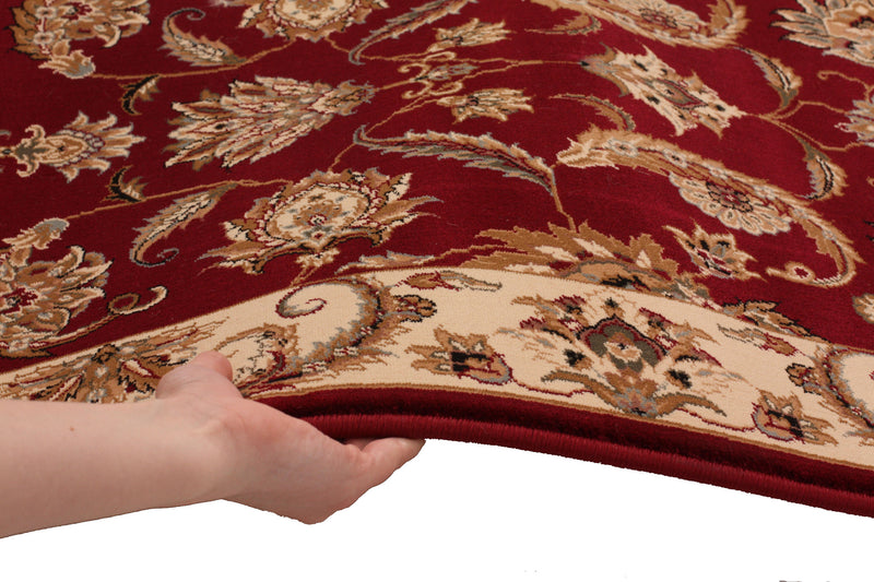 Stunning Formal Floral Design Rug Red
