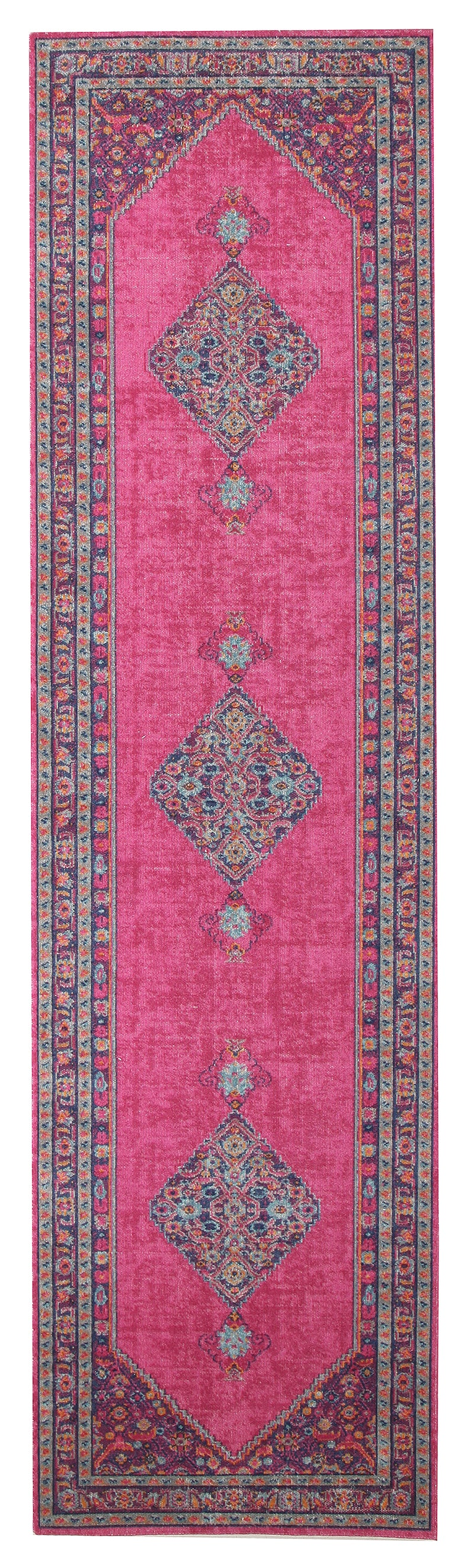 Whisper Diamond Pink Runner Rug - MaddieBelle