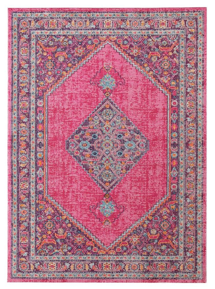 Whisper Diamond Tribal Pink Rug - MaddieBelle