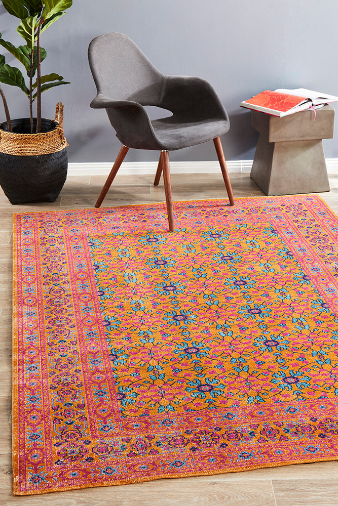 Whisper Sunset Pink Rust Rug