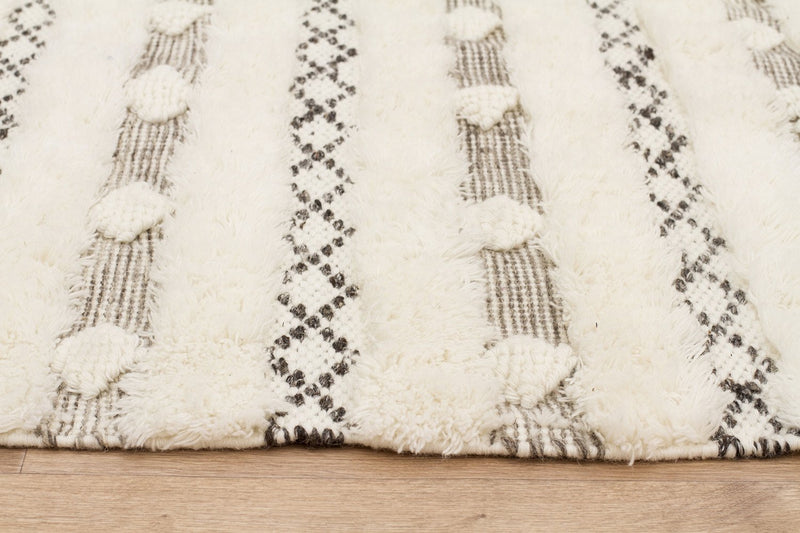 Fusion Compound Wool and Cotton Ivory Rug - MaddieBelle