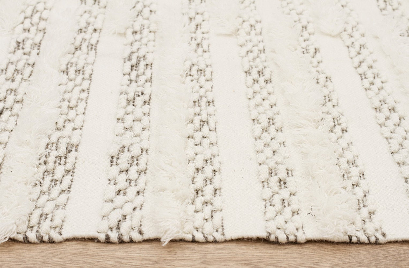 Fusion Mingle Wool And Cotton Ivory Rug Maddiebelle Rugs