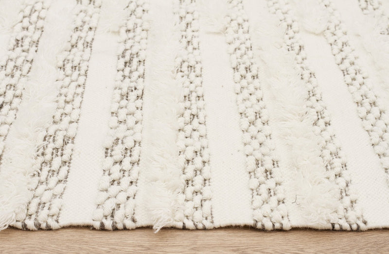 Fusion Mingle Wool and Cotton Ivory Rug - MaddieBelle