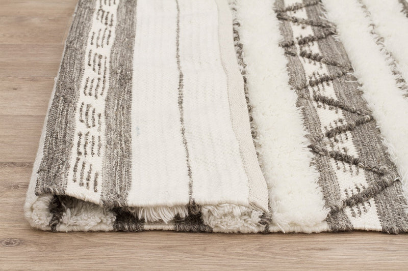 Fusion Interweave Wool and Cotton Ivory Rug - MaddieBelle
