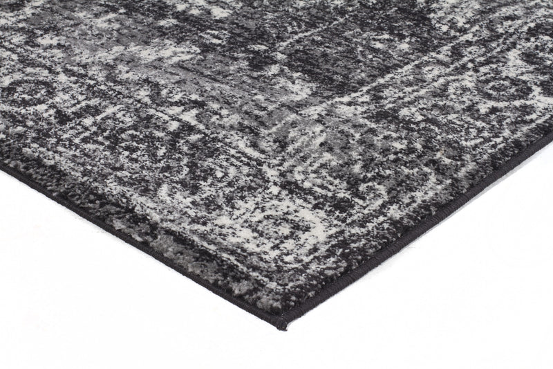 Estella Charcoal Transitional Rug - MaddieBelle