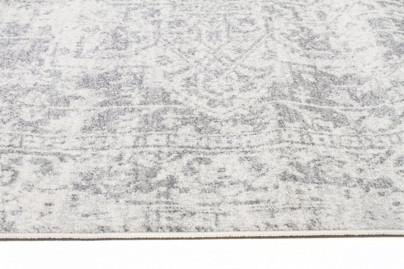 Dream White Silver Transitional Rug - MaddieBelle