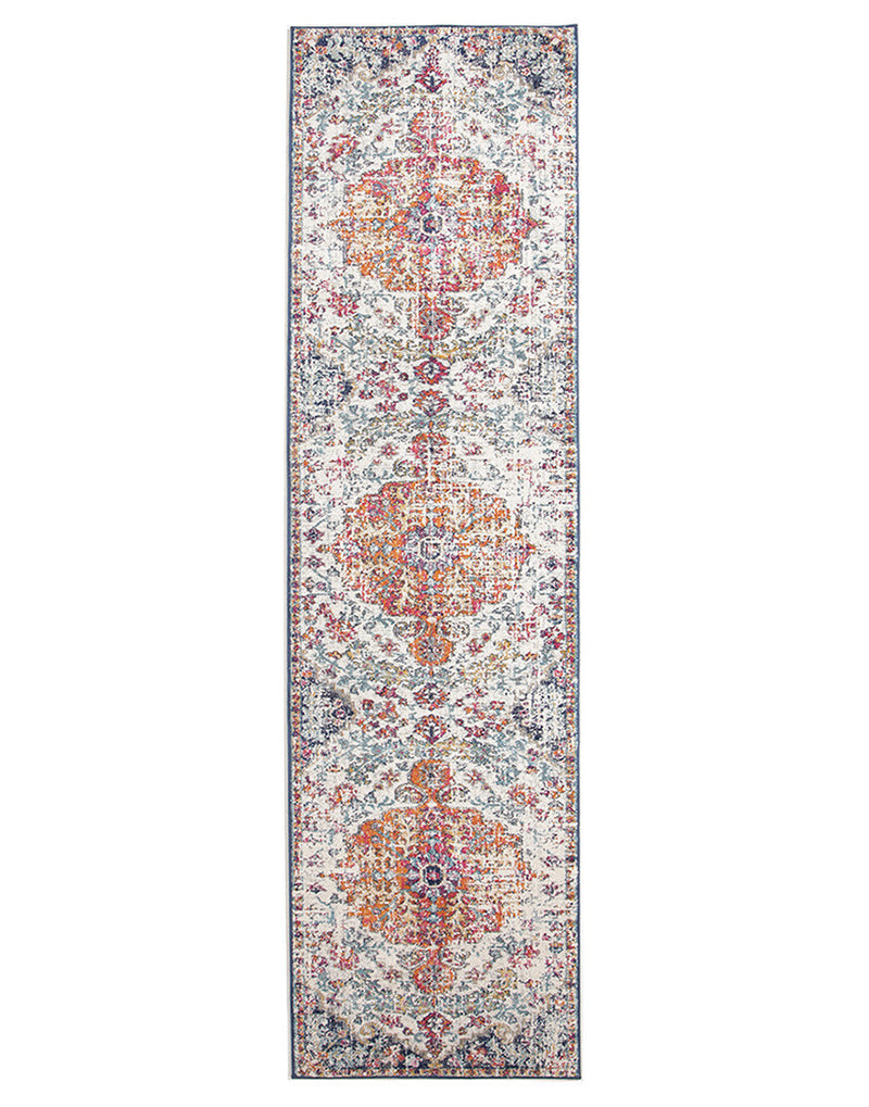 Transitional Carnival Multi White Rug - MaddieBelle