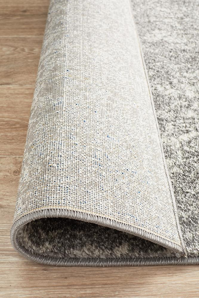 Evoke Homage Grey Transitional Runner Rug