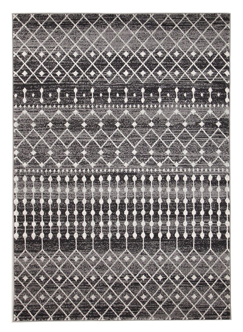 Simplicity Black Transitional Rug - MaddieBelle