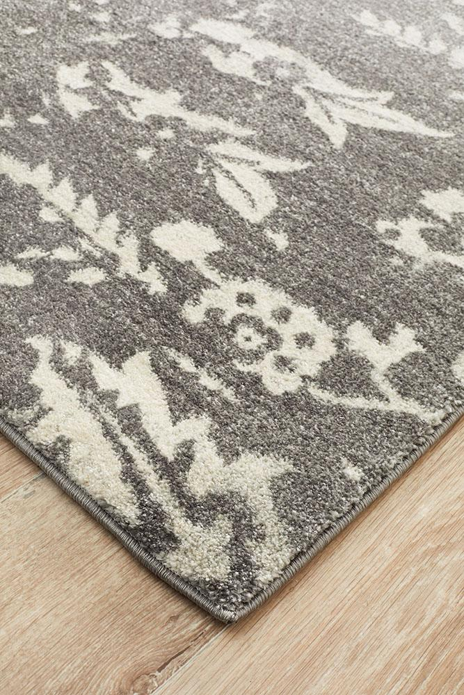 Evoke Stream Grey Transitional Rug