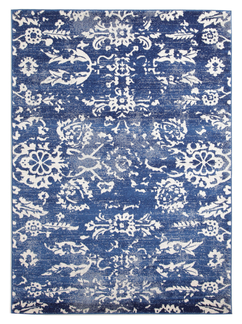 Donna Navy Transitional Rug - MaddieBelle